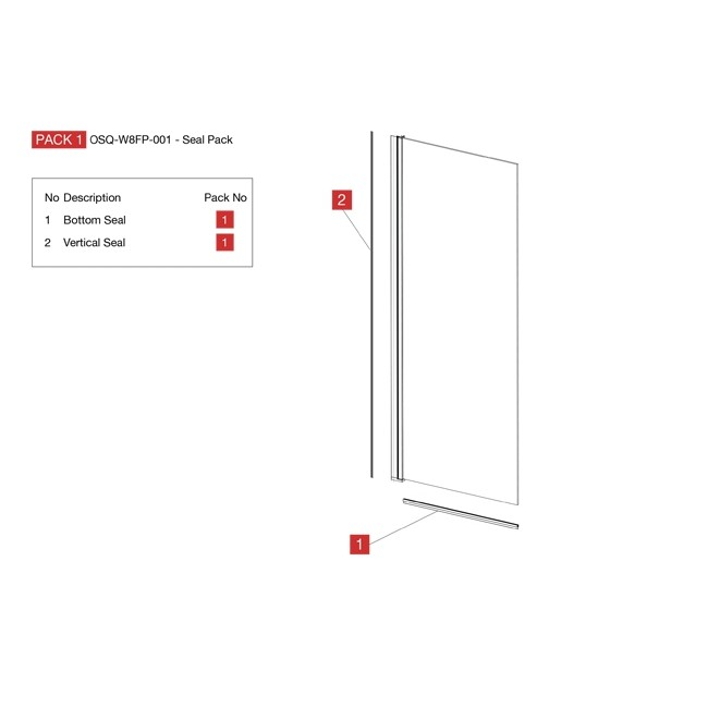 Wetroom 8 Flipper Panel (New)