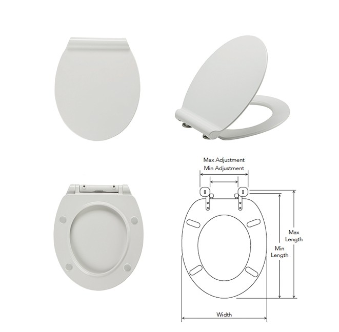 City Thermoset - Thin Toilet Seat