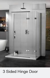 Inline 3 Sided Hinge Door