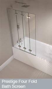 Prestige Four Fold Bath Screen