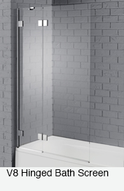 V8 Hinged Bath Screen